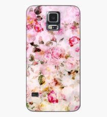 Funda/vinilo para Samsung Galaxy Patrón de acuarela en colores pastel rosa vintage