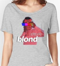 Frank Ocean Blond Helmet Logo Women's Relaxed Fit T-Shirt