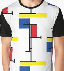 Mondrian Minimalist De Stijl Modern Art III Graphic T-Shirt
