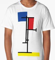Mondrian Minimalist De Stijl Modern Art III Long T-Shirt