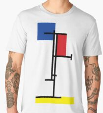 Mondrian Minimalist De Stijl Modern Art III Men's Premium T-Shirt
