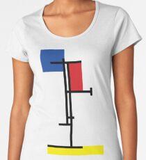 Mondrian Minimalist De Stijl Modern Art III Women's Premium T-Shirt