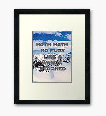 HOTH HATH NO FURY LIKE A WAMPA SCORNED Framed Print