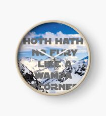 HOTH HATH NO FURY LIKE A WAMPA SCORNED Clock