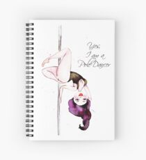 Pole Dancer Spiral Notebook