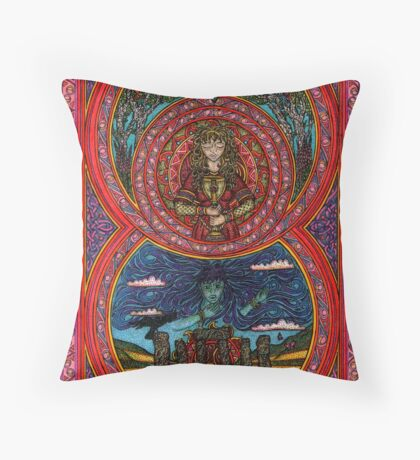Summer Solstice, the brake of dawn Throw Pillow