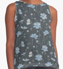 Cosmos flowers in blue Contrast Tank
