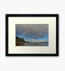 Kauai Tunnels Beach Rainbow Framed Print