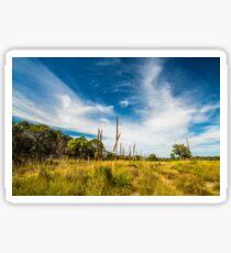 Country scenery in Australian outback Sticker