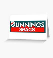 Bunnings Snags Greeting Card