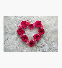 Heart: Roses  Photographic Print