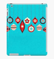 Christmas retro baubles iPad Case/Skin