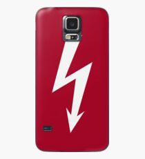Flash / Blitz / Éclair / Rayo / Fulmine (White) Case/Skin for Samsung Galaxy