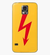 Flash / Blitz / Éclair / Rayo / Fulmine (Red) Case/Skin for Samsung Galaxy