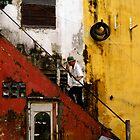 Stair way in Saigon by Daniel Spruce