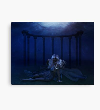 Woman under water 4 Canvas Print