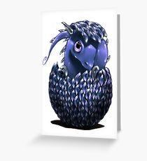 Cute blue Dragon  Greeting Card