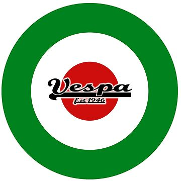 Team Vespa Small Logo on Italian Flag MOD Target by ScooterStreet