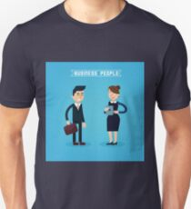 Business People. Businessman and Businesswoman. Woman with Tablet. Man with Briefcase. Business Team. Flat style T-Shirt