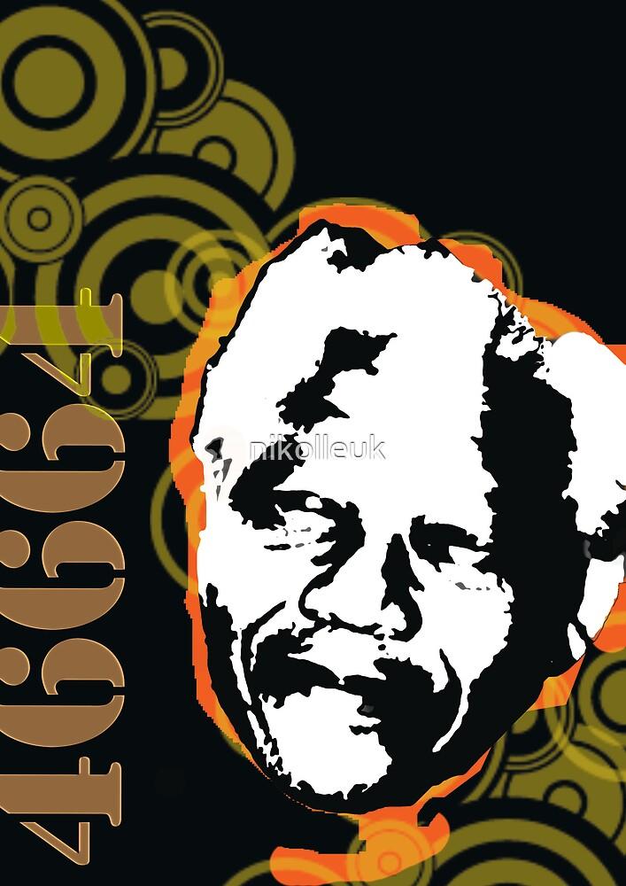 Nelson Mandela by nikolleuk