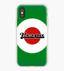 Italian Flag MOD Target With Small Vespa Word iPhone Case