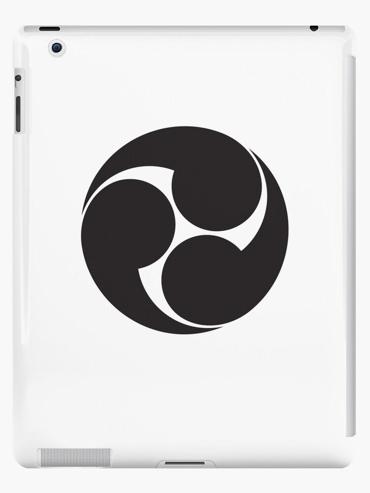 Tomoe Japan Japanese Shinto Symbol Plain Simple Black On