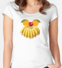 Face fruits Women's Fitted Scoop T-Shirt