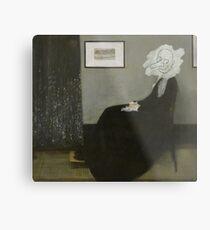 Whistler's Mother - Mr. Bean Metal Print