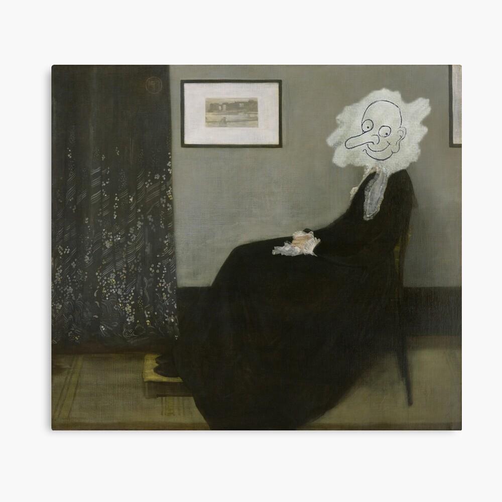 Whistler's Mother - Mr. Bean Canvas Print