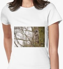 Barred Owl - Presqu'ile Park Women's Fitted T-Shirt