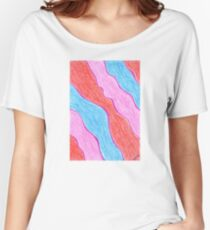 2213 - Streams of Red, Rose and Blue Women's Relaxed Fit T-Shirt