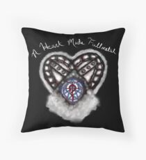 A Heart made Fullmetal - Black Throw Pillow