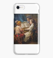 Carle Vanloo, artist French,  Music,  oil on canvas iPhone Case/Skin