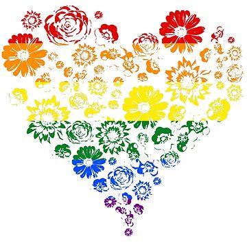 Flower pride heart by wearingpride