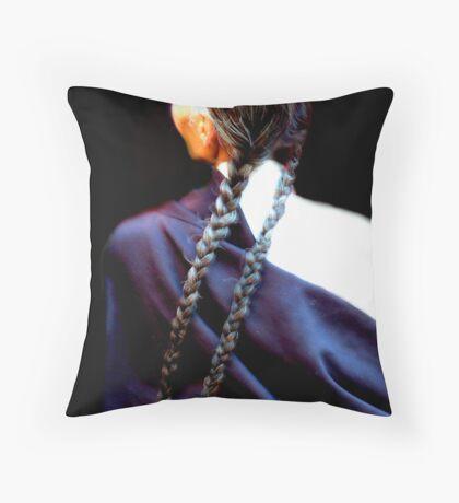 Plaited Throw Pillow