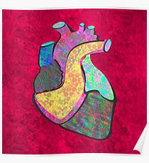 Holographic human heart Poster
