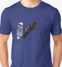 Kite And Surfboard Freestyle Silhouette Vector T-Shirt