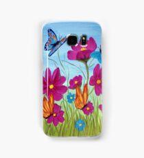 Butterflies and flowers  Samsung Galaxy Case/Skin