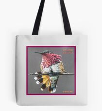 Elliot's Hummingbird by Art4feel Paris (fuchsia) Tote Bag