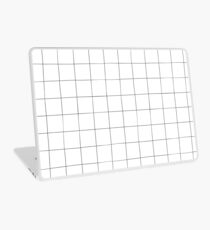 Black and white check, square, plaid pattern Laptop Skin