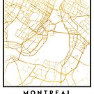 MONTREAL CANADA CITY STREET MAP ART by deificusArt