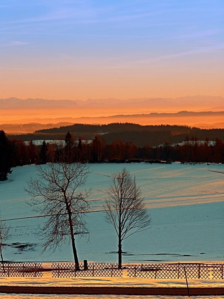 Colorful winter wonderland sundown VI   landscape photography by Patrick Jobst