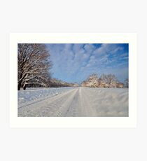 snowy winter in a Russia Art Print
