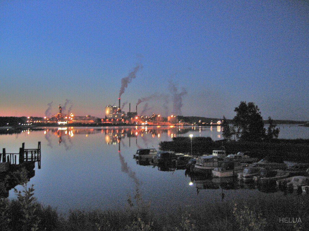 The Paper Mill At Night by HELUA