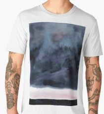 Watercolor landscape sky clouds Men's Premium T-Shirt