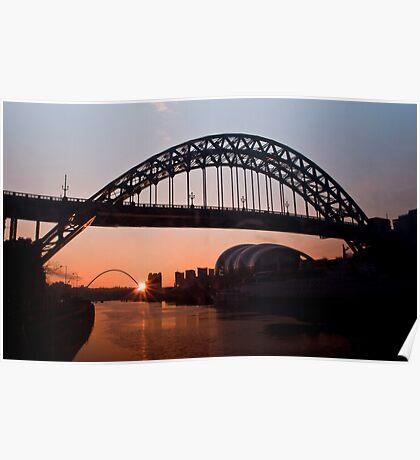 Tyne Bridge Sunrise Poster