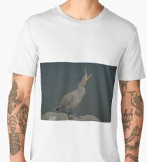 Cormorant with a Fur and Feathers effect Men's Premium T-Shirt