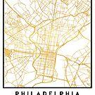 PHILADELPHIA PENNSYLVANIA CITY STREET MAP ART by deificusArt