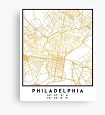 PHILADELPHIA PENNSYLVANIA CITY STREET MAP ART Leinwanddruck