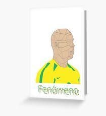 Ronaldo Fenomeno Greeting Card